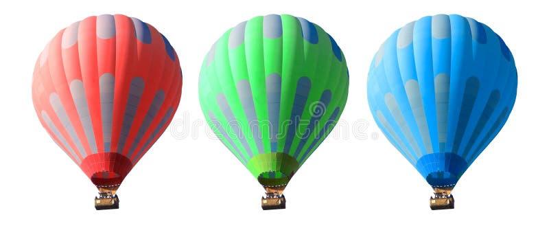 Balões de ar quente ajustados foto de stock