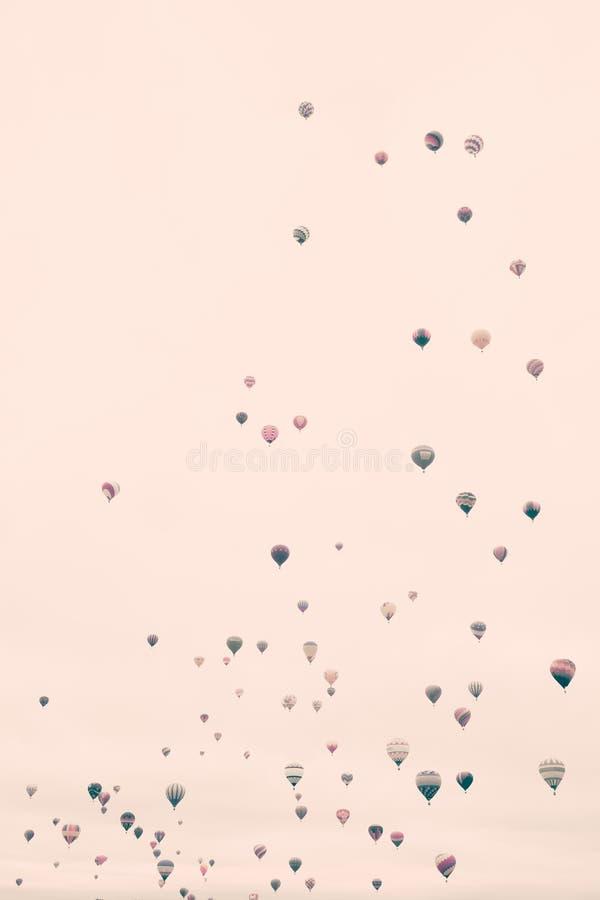 Balões de ar quente do vintage fotografia de stock royalty free