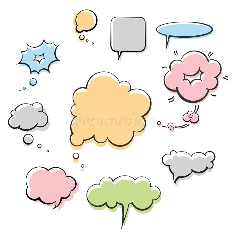 Balões de discurso ilustração royalty free
