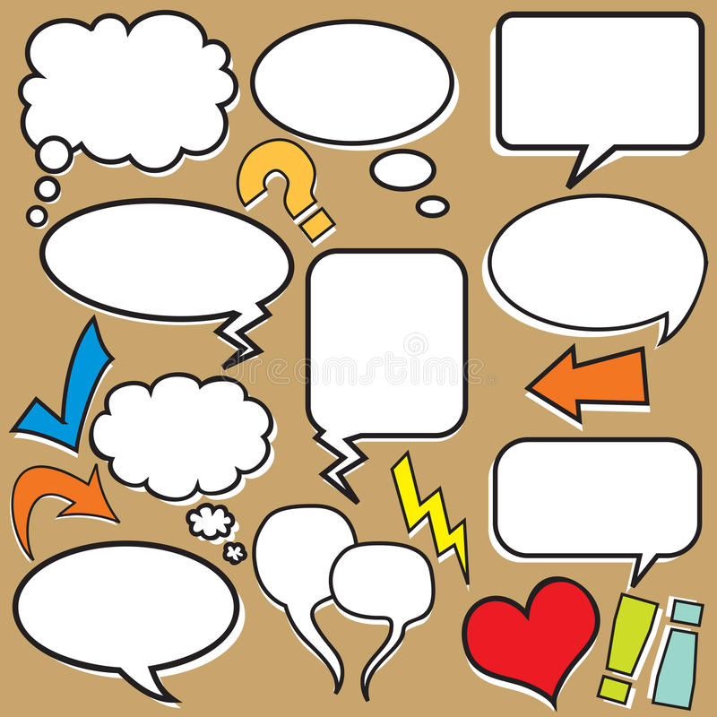 Balões de discurso ilustração stock