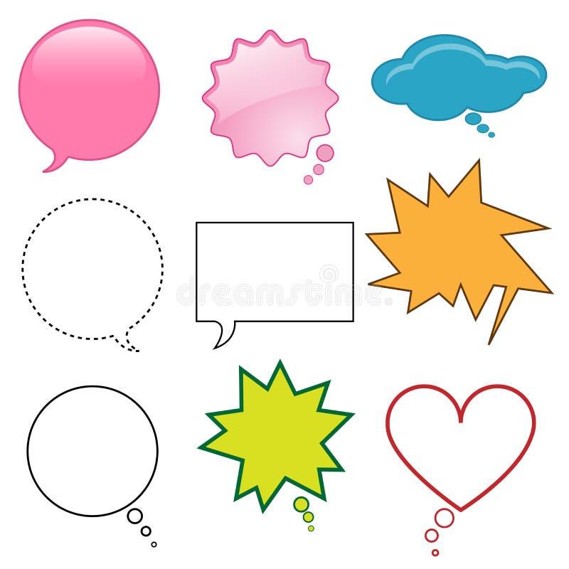 Balões de discurso ajustados ilustração royalty free