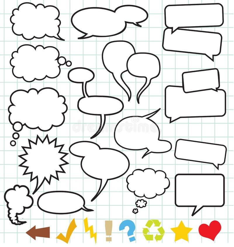 Balões de discurso (bolha do discurso) ilustração do vetor