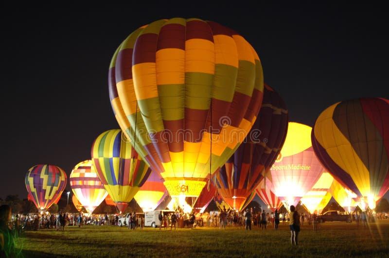 Balões de Louisiana imagens de stock
