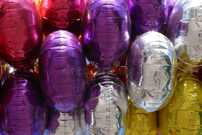 Balões De Mylar Fotografia de Stock
