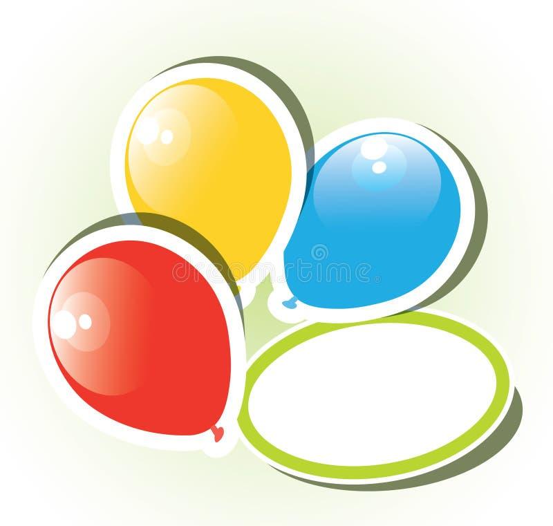 Balões de papel coloridos ilustração stock