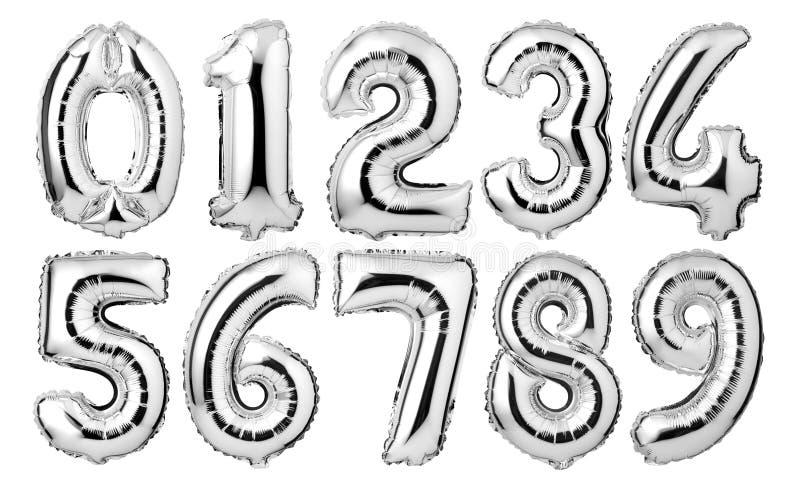 balões de prata dos números ilustração royalty free
