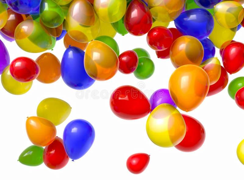 Balões de queda fotos de stock