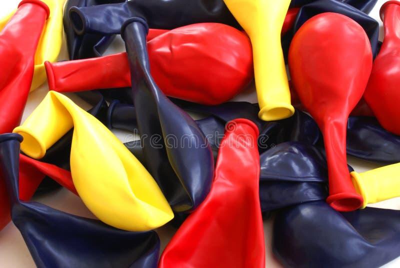 Balões desinflados imagem de stock
