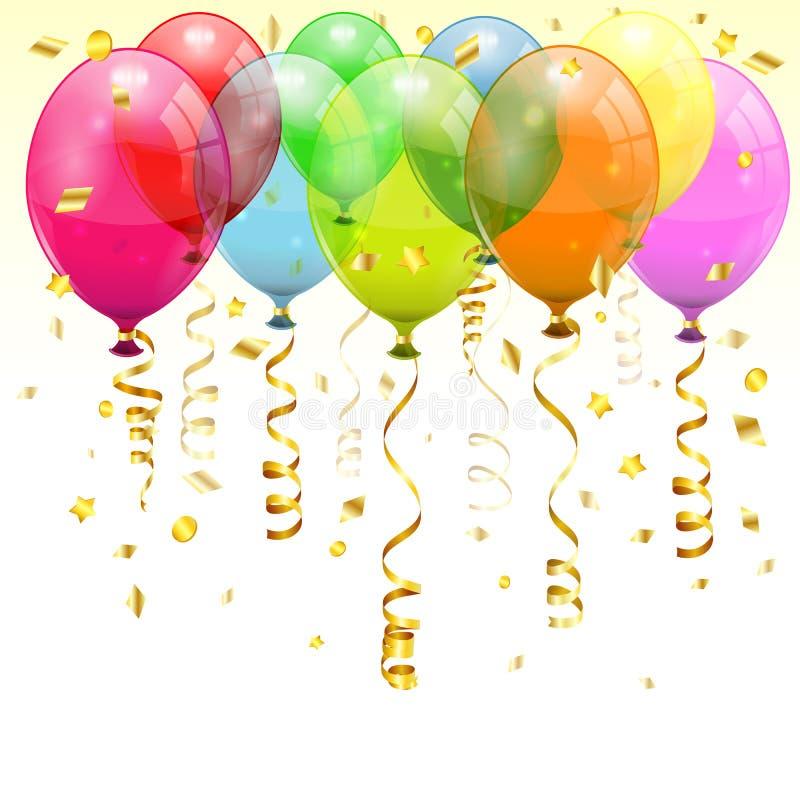 Balões do aniversário ilustração royalty free