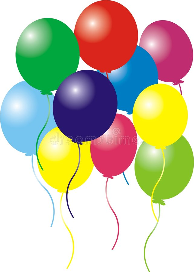 Balões do aniversário fotos de stock royalty free