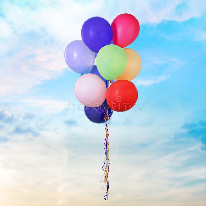 Balões do aniversário imagens de stock royalty free