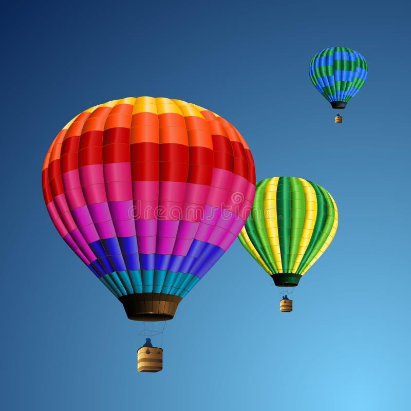 Balões do arco-íris ilustração stock