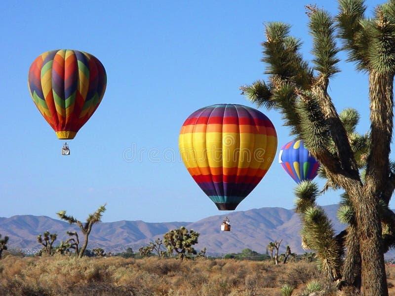 Balões do deserto fotos de stock royalty free