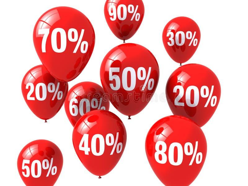 Balões do disconto ilustração stock