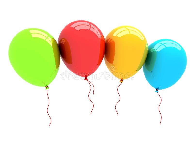 balões do partido 3D ilustração royalty free