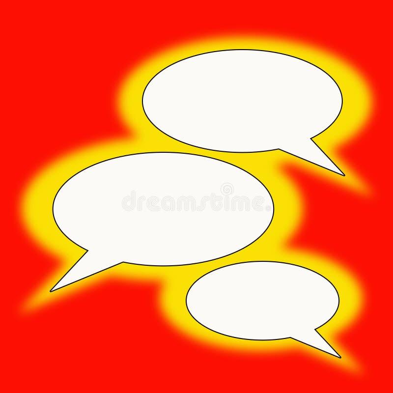 Balões do texto ilustração stock