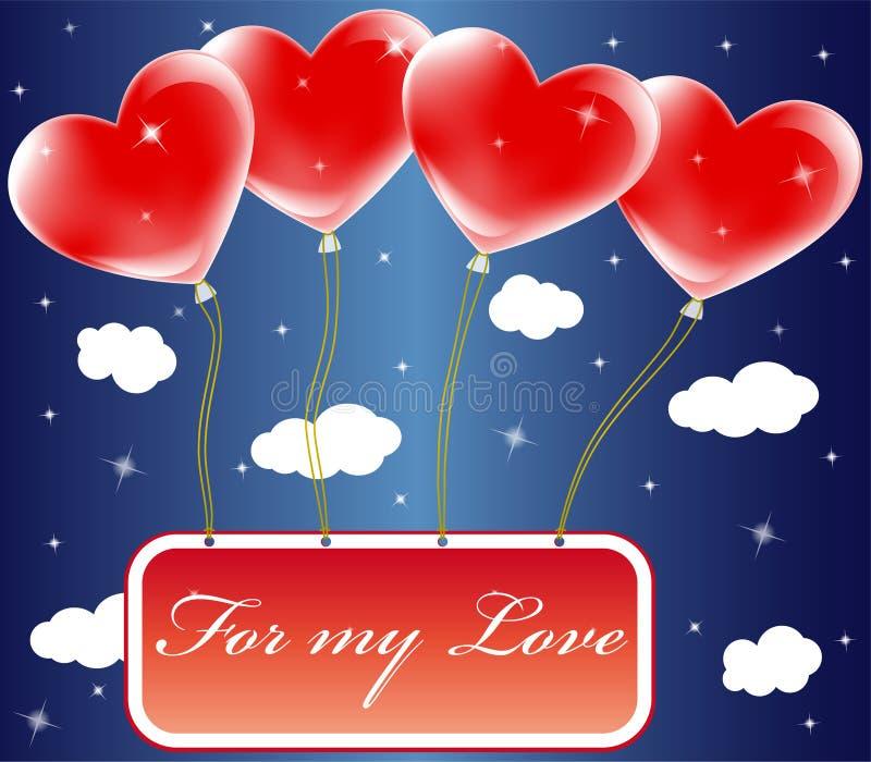 Balões do Valentim ilustração stock