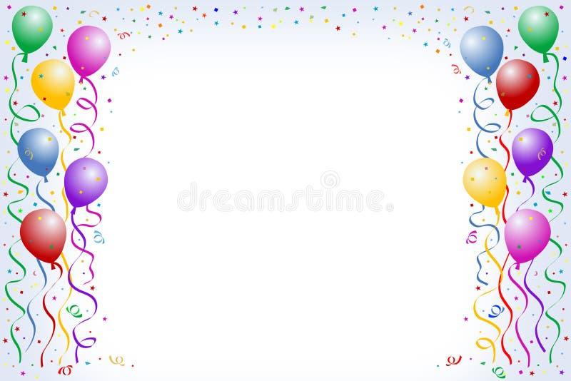 Balões e confetti ilustração do vetor