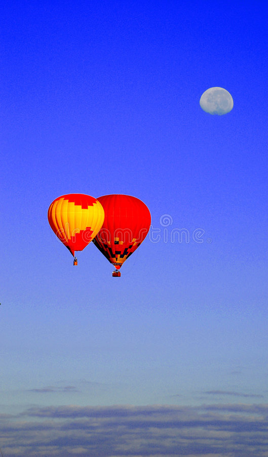 Balões e lua foto de stock