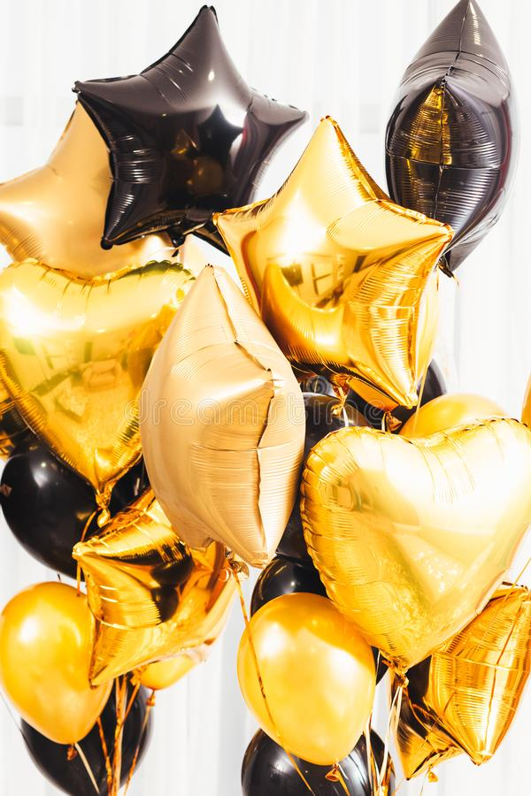 Balões especiais do partido da fantasia da decoração dos dias imagem de stock