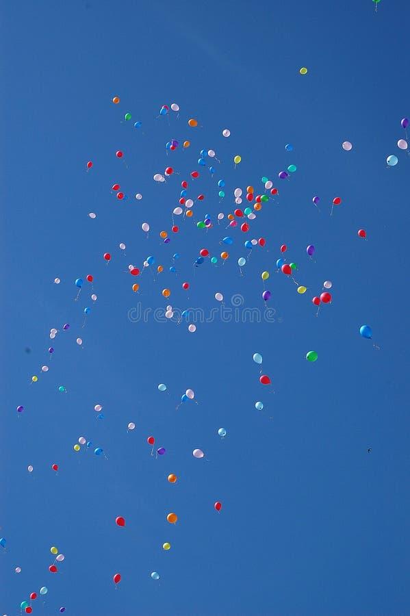 Balões felizes imagens de stock