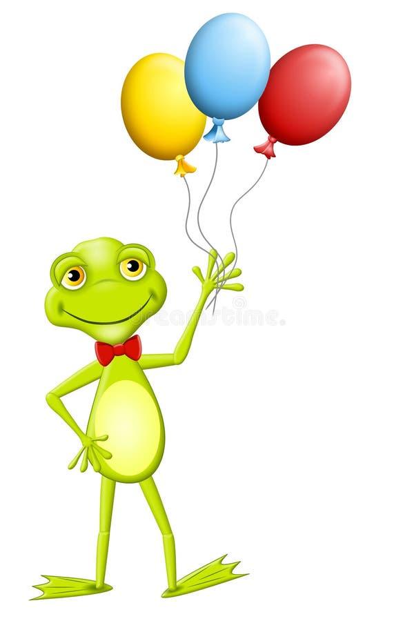 Balões felizes da terra arrendada da râ ilustração royalty free