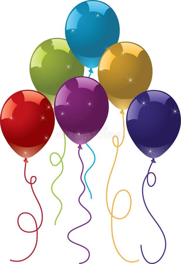 Balões festivos coloridos ilustração stock