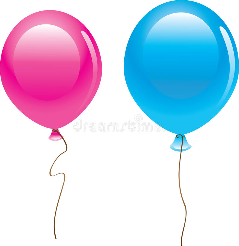 Download Balões isolados foto de stock. Imagem de fita, balão - 12801674