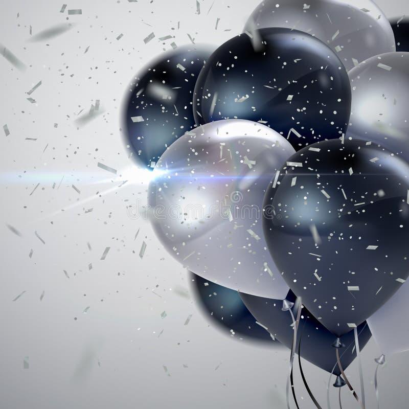 Balões lustrosos realísticos ilustração stock