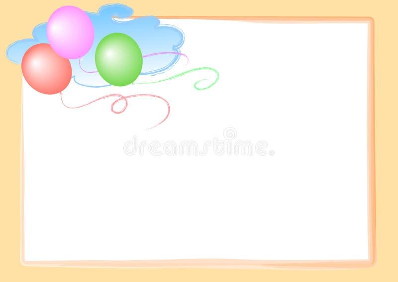 Balões na página do céu ilustração stock