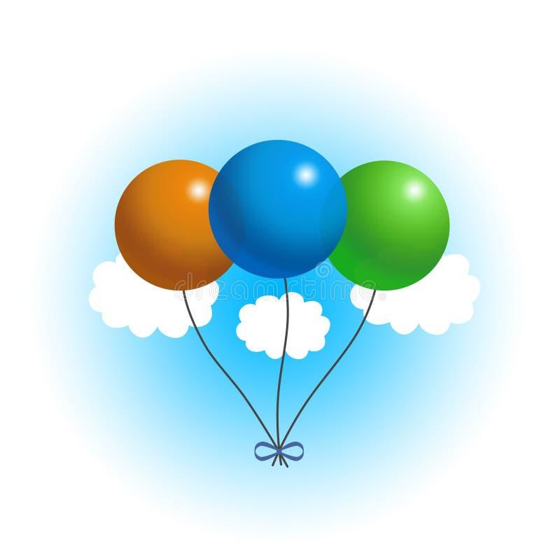 Balões no céu ilustração royalty free