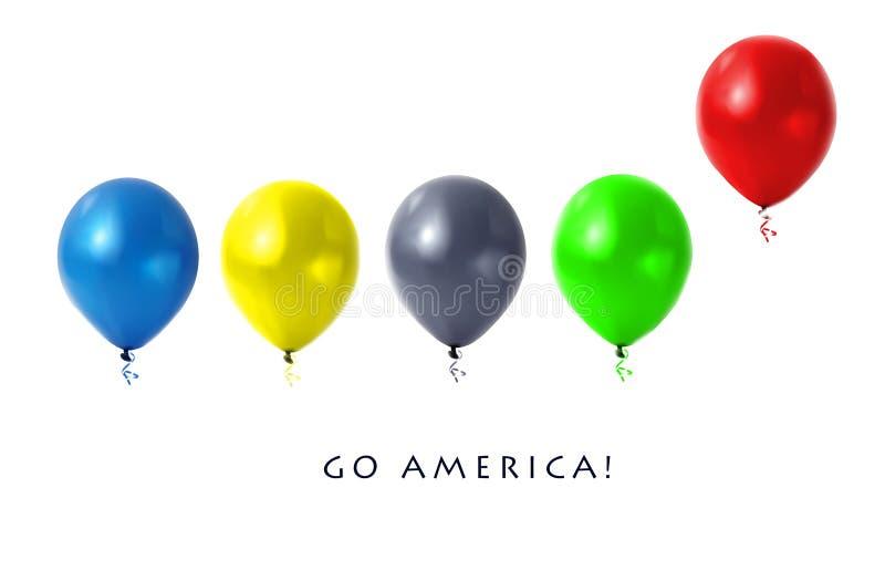 Balões olímpicos ilustração royalty free