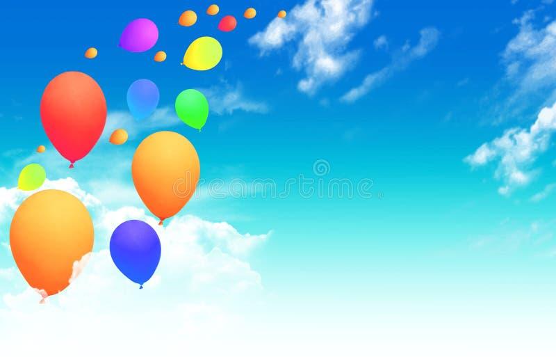 Download Balões que voam no céu foto de stock. Imagem de brilhante - 16872030