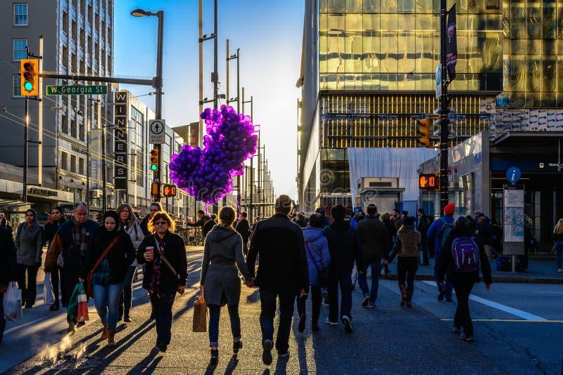 Balões roxos fotografia de stock