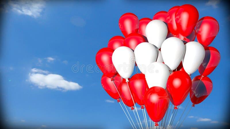 Balões suíços da bandeira ilustração royalty free