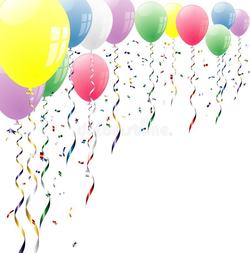 Balões superiores ilustração royalty free