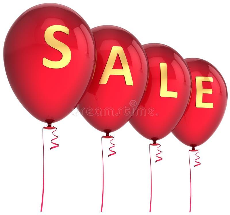 Balões vermelhos da venda ilustração stock