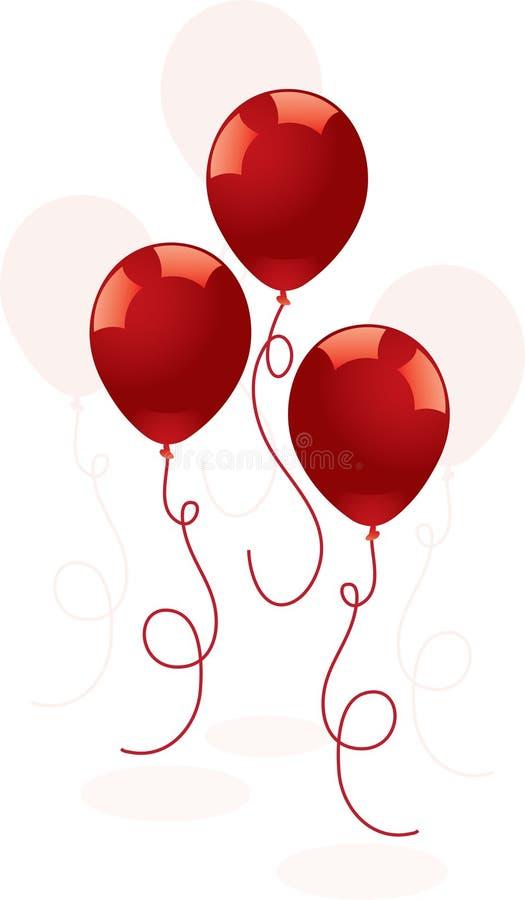Balões vermelhos festivos ilustração royalty free
