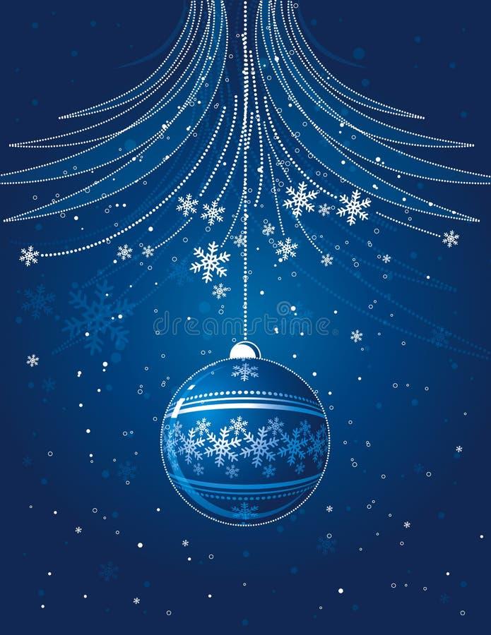 bal Świąt błękitnej karty ilustracji