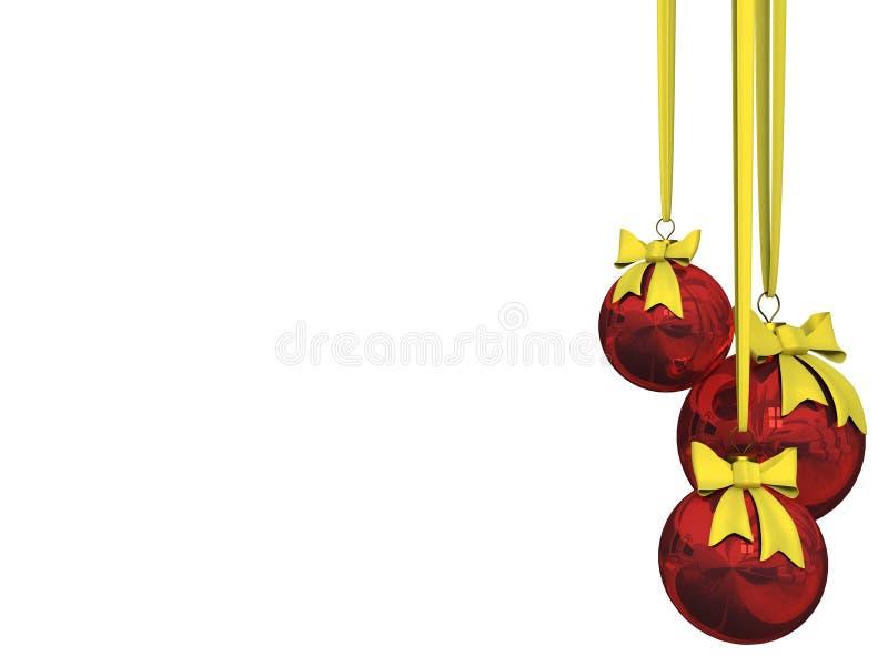 bal Świąt odizolowane w white royalty ilustracja