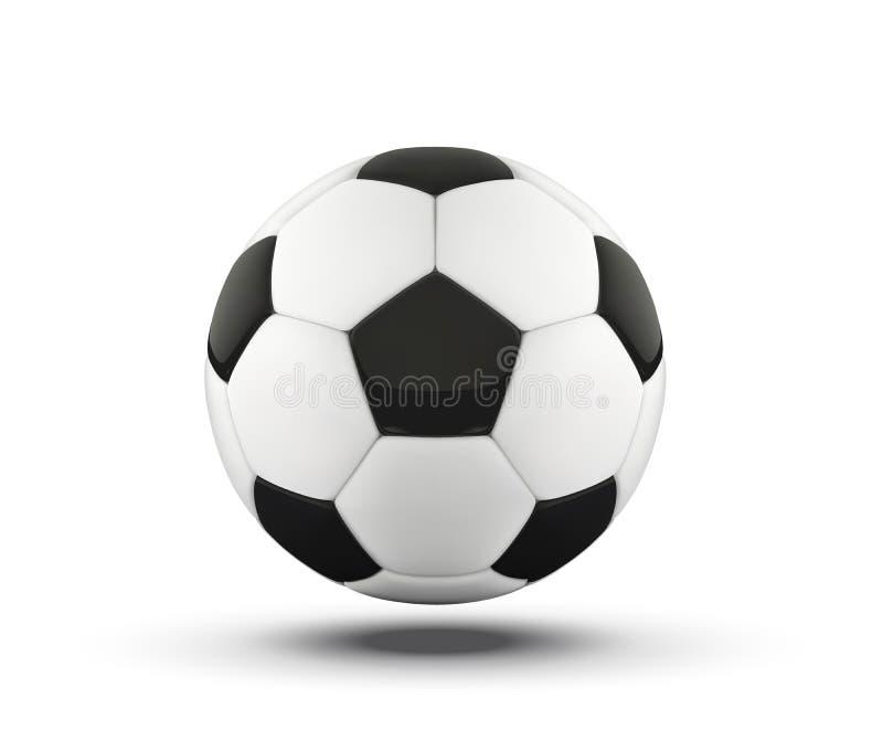 Bal ποδοσφαίρου Ρεαλιστική σφαίρα ποδοσφαίρου στο άσπρο υπόβαθρο τρισδιάστατη διανυσματική αθλητική σφαίρα ύφους που απομονώνεται διανυσματική απεικόνιση