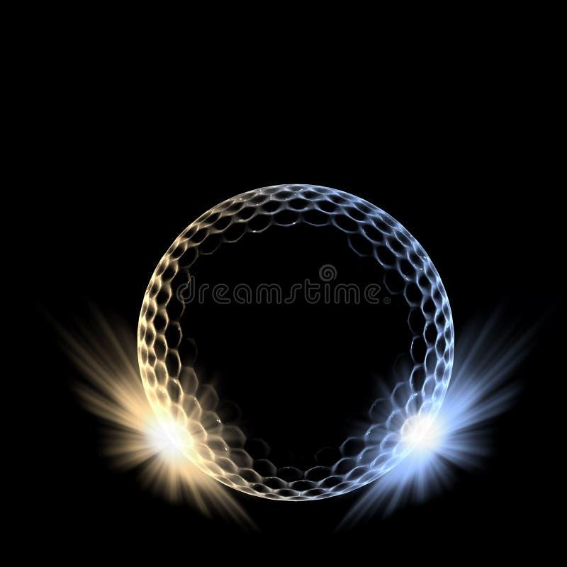 Bal гольфа иллюстрация штока