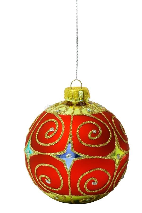 Bal 1 van Kerstmis stock afbeelding