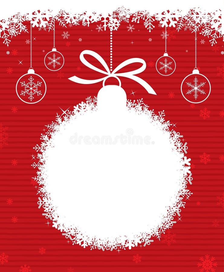 Bal 3 van Kerstmis royalty-vrije illustratie