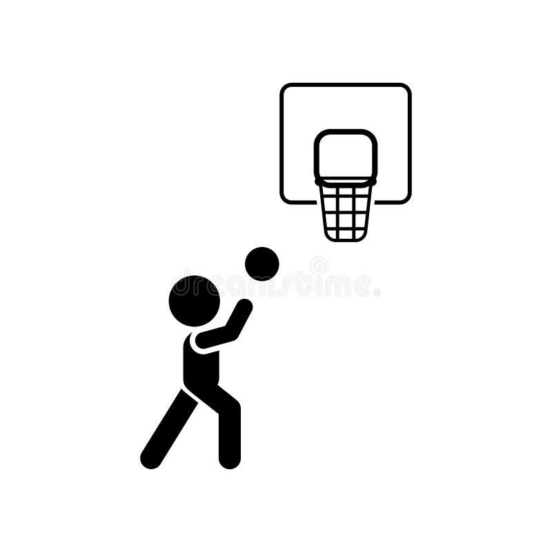 Bal, basketbal, spel, spelpictogram Element van kinderenpictogram Grafisch het ontwerppictogram van de premiekwaliteit Tekens en  royalty-vrije illustratie