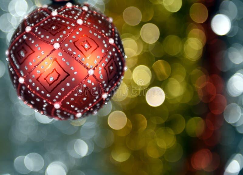 Bal bonito do Natal fotografia de stock