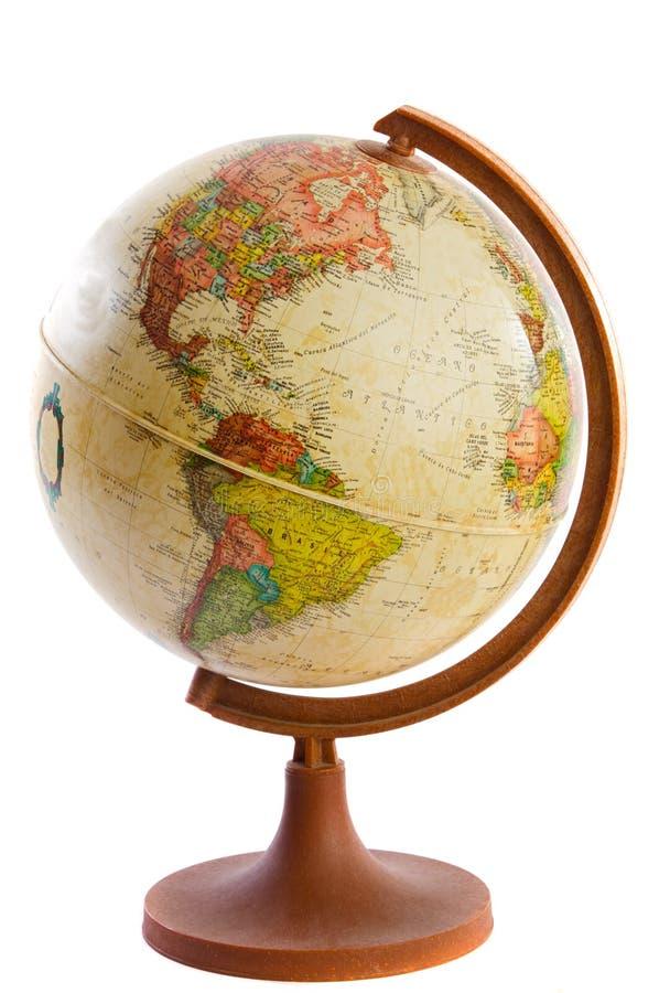 Bal in de wereld van plastiek en hout royalty-vrije stock foto's