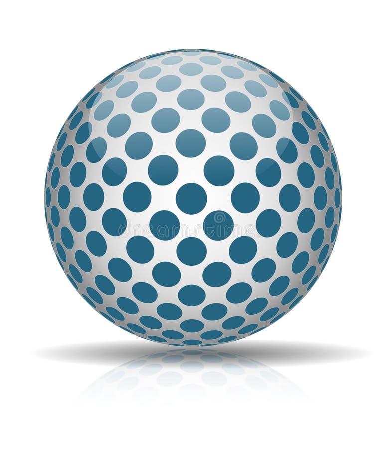 Bal met blauwe cirkels vector illustratie