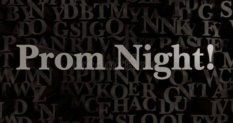 Bal noc! - 3D odpłacająca się kruszcowa typeset nagłówek ilustracja ilustracja wektor