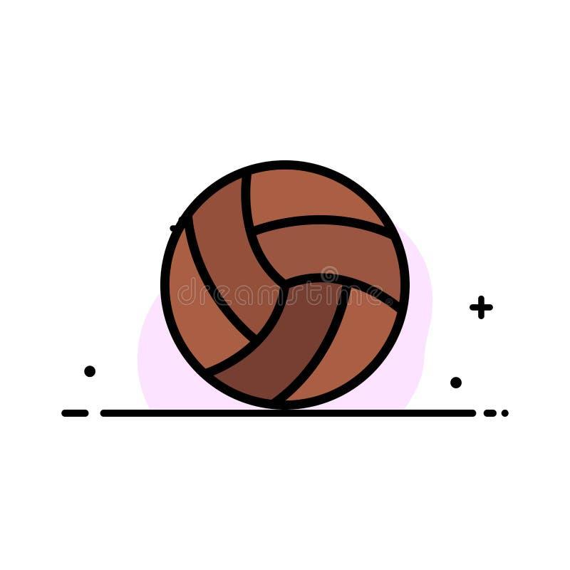 Bal, Salvo, Volleyball, Malplaatje Sport van de Bedrijfs het Vlakke Lijn Gevulde Pictogram Vectorbanner royalty-vrije illustratie